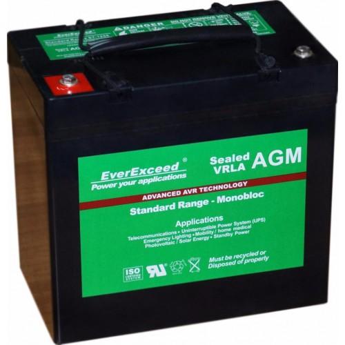 Аккумулятор для ИБП EverExceed AGM 12V 62Ah (ST-1255) - купить в SADOVKA